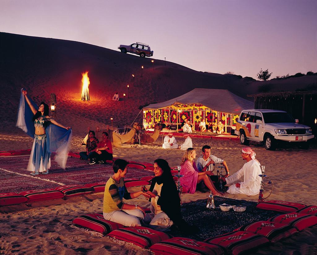 camping dans le désert